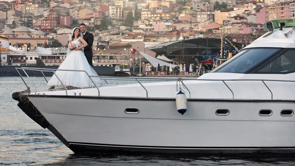 جشن عروسی روی کشتی استانبول