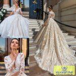 لباس عروس آستین توری