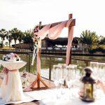 عروسی در کنار آب