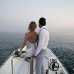 عروسی ایرانی روی قایق بادبانی