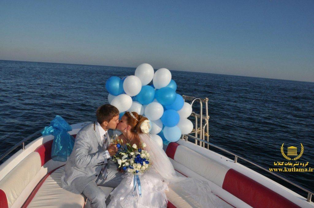 عروسی روی قایق آنتالیا