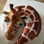 کیک با طرح سر زرافه
