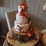 کیک سه طبقه طرح پاییز سنجاب