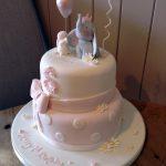 کیک تولد کودک دخترانه با طرح فیل