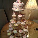 کیک تولد خرسی صورتی