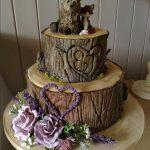 کیک تنه درخت خرس و روباه