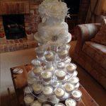 کیک عروسی گل بزرگ