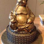 کیک بودا طلایی بسیار زیبا