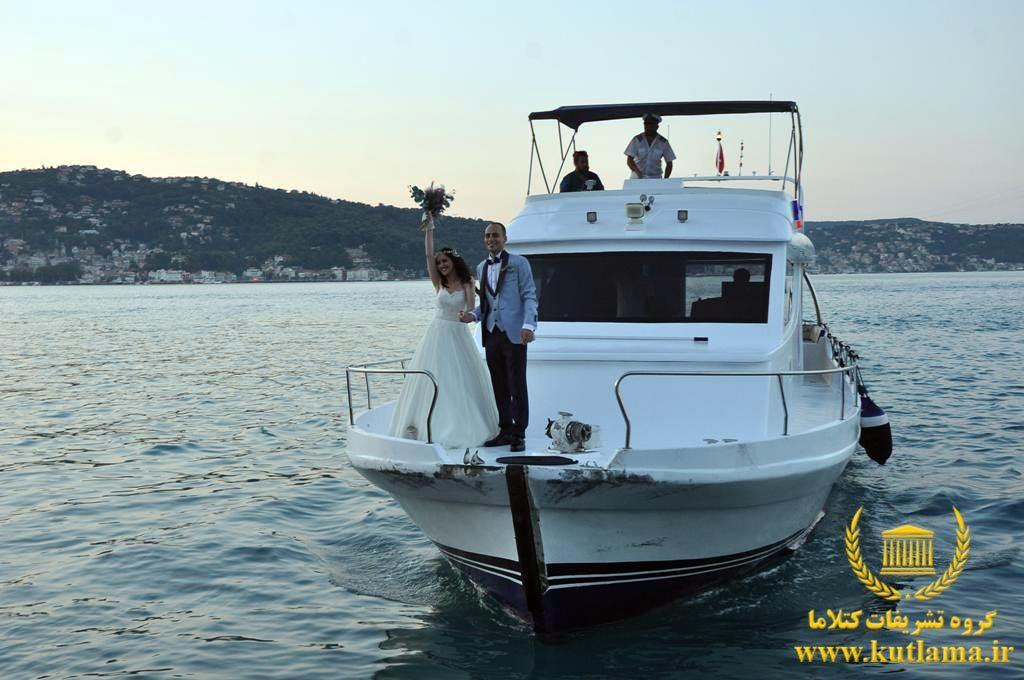 عروسی روی کشتی ترکیه