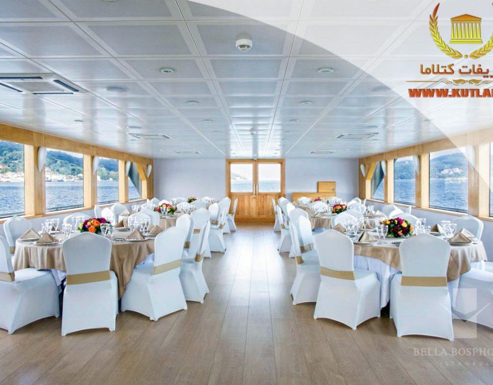 عروسی داخل کشتی استانبول