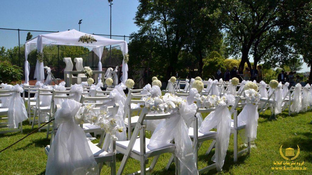 عروسی در فضای باز هتل شراتون